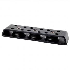 Renvoi de pont alu 3 poulies - 10 mm