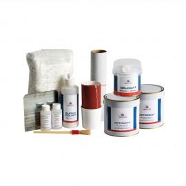 Super kit de réparation fibre de verre, 2kg de résine polyester