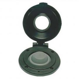 Contacteur à pied pour guindeau - bouton noir - boîtier noir