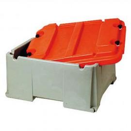 Bac à batterie grande capacité 2 batteries - 120 à 200 A - 600 x 535 x 320 mm