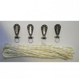 Kit poulies/drisse - 609S - 609T - 811S - 811T
