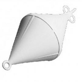 Bouée de corps mort bi-conique - Ø 220 mm - blanc