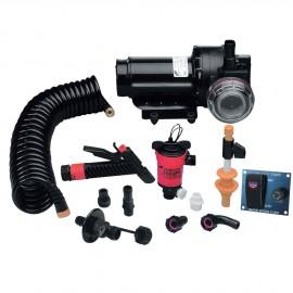 Kit pompe de lavage avec pompe de vivier - 20L/min - 12 V
