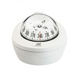 Compas Offshore 75 écl., mini-fût horiz., blanc, rosace blanche