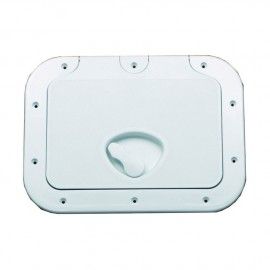 Porte d'équipet ABS anti UV vis apparentes - 375 x 275 mm