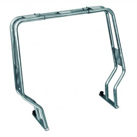 Roll bar pour semi-rigide - tube inox 50 mm - H120 cm - 156 / 206 cm
