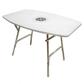 Table de cockpit pliante - ovale - 95 x 66 cm