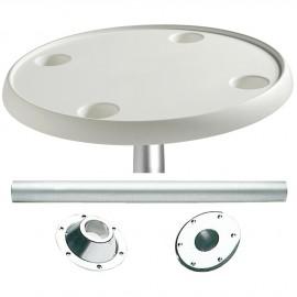 Table ronde avec pied aluminium