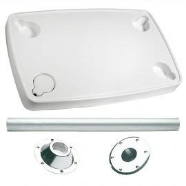 Table en ABS rectangulaire avec pied aluminium
