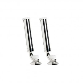 Porte-canne inox sur platine ø46mm - lot de 2