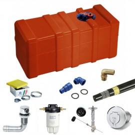Pack réservoir carburant 140L et accessoires - installation moteur diesel