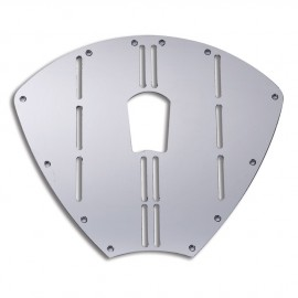 Protection de proue - inox AISI 316 - 320 x 270 mm - avec passage pour anneau