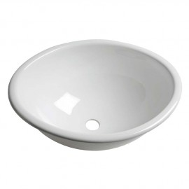 Evier ovale plexiglas 39x31cm