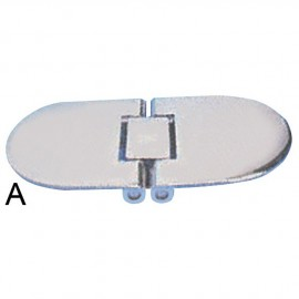 Charnière inox aveugle 140x70 -2.8 mm