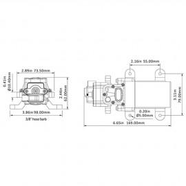 Groupe d'eau - 3.8 l/min - 2.5 Bar - 12 V