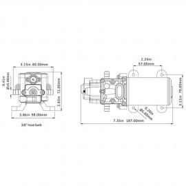 Groupe d'eau - 5 l/min - 4.1 Bar - 12 V