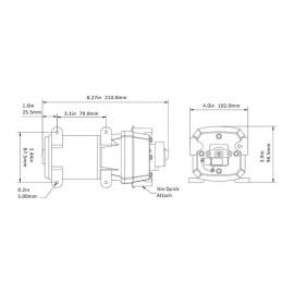 Groupe d'eau 4 soupapes - 12.5 l/min - 2.4 Bar - 12 V