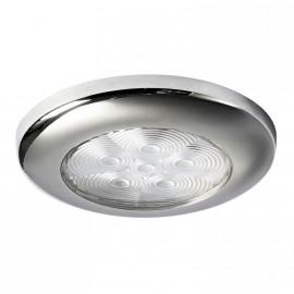 Plafonnier étanche chromé à LED blanc
