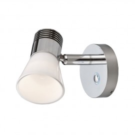 Spots LED aluminium chromé avec reflecteur verre