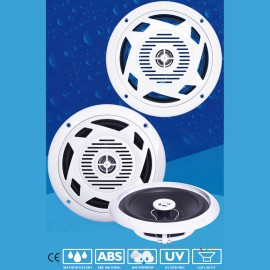 Haut parleur DISCO - la paire - 80 W - blanc