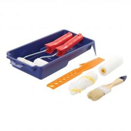 Ensemble mini rouleau - bac à peinture et accessoires - 100 mm