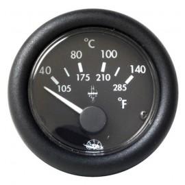 Indicateur de température d'eau 12V - noir