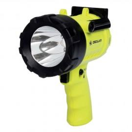 Lampe-torche LED étanche 1 m - 3 fonctions - portée 300 m - autonomie max 180 h