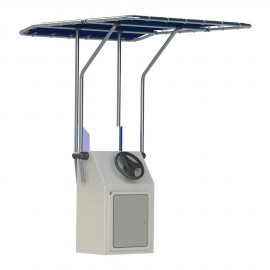 T-TOP rétractable en aluminium Ø32 mm 1,05 x 1,35 m - bleu