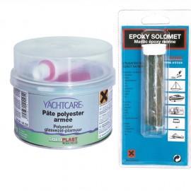 Mastic polyester renforcé fibre de verre 400 g