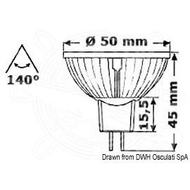 Ampoule à LED pour spot - Ø 50 mm - 12 V / 4 W