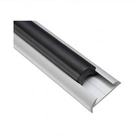 Jonc PVC noir pour profilé alu  44.485.10