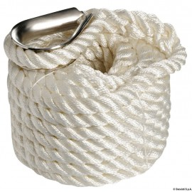 Cordage - ligne d'amarrage ø10 mm - 6 M - blanc - lot de 2