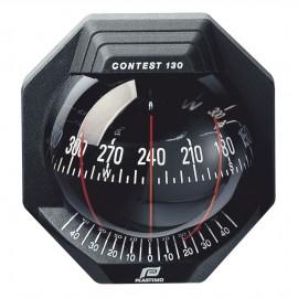 Compas Contest 130 cloison 10-25°, noir, rose rouge