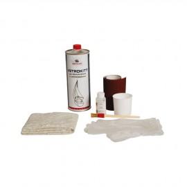Kit réparation fibre de verre Vetrokit - résine polyester 800g+accessoires