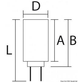 Ampoule LED SMD - culot G4 pour spot - 12 / 24 V - 1.5 W égales à 10 W - 97 lm