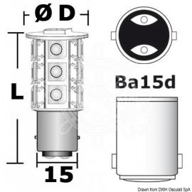 Ampoule LED SMD culot BA15D pour spots - 12 / 24 V - 2 W