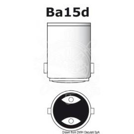 Ampoule à LED SMD culot BA15D pour spot - protection en verre -12 / 24 V - 1.5 W