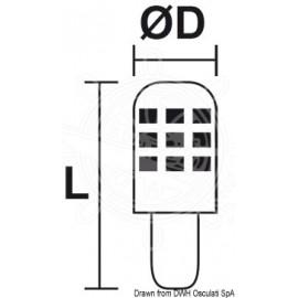 Ampoule LED SMD culot E14 - protection verre - 12 / 24 V - 3 W