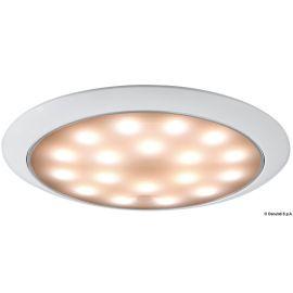 Plafonnier LED ultraplate bague blanche 12/24 V 3.5 W- Lumière Blanc/Rouge