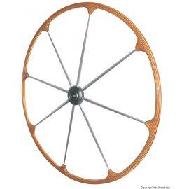 Barre à roue - Couronne en teck - branches inox - Ø400 mm