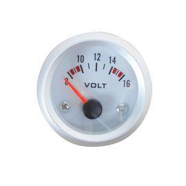 Afficheur voltmètre - Ecoline - Ø 52 mm - Fond blanc
