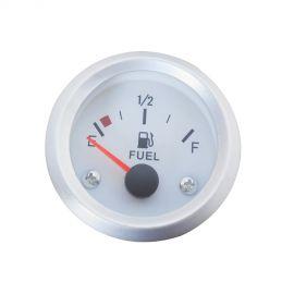 Afficheur niveau de carburant 240-33 Ohms - Ecoline - Ø 52 mm - Fond blanc