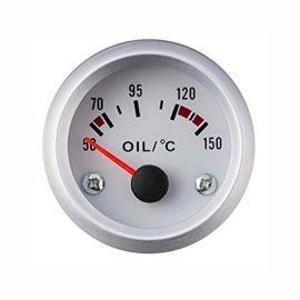 Afficheur température d'huile avec sonde - Ecoline - Ø 52 mm - blanc