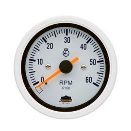 Afficheur compte-tours 0-6000 RPM- G Line - Ø 84 mm - blanc