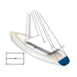 Taud de soleil pour voiliers avec chassis - blanc