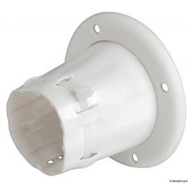 Passe-câbles PVC ouvert - blanc/noir - ø105 mm externe