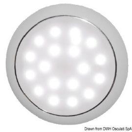 Plafonnier LED ultraplate 12/24 V 3.5 W- Lumière Blanc/Rouge