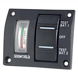 Tableau électrique pour test de 2 batteries - étanche