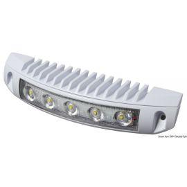 Spot aluminium avec 5 LED, installation sur/sous l'eau