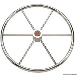 Barre à roue inox poli miroir pour voiliers - 3 tailles